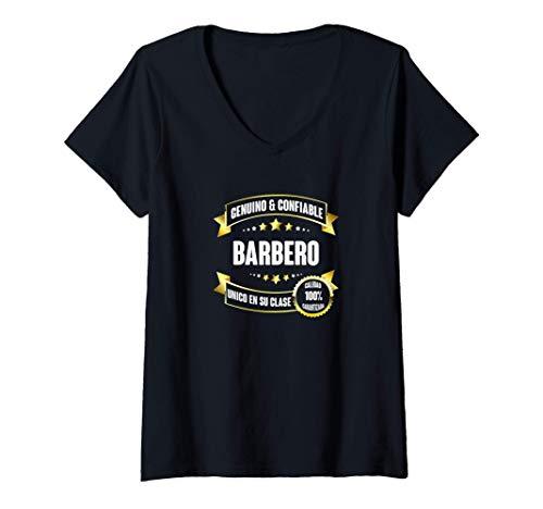 Mujer Regalos para BARBEROS - Barbero EL UNICO Camiseta Cuello V