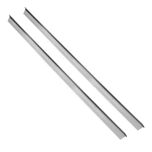 Vance 23-3/4 Inch Long Stainless Steel Counter Trim Kit for Backless or Slide-in Stoves | 2 Pack | Oven Gap Filler | Heat Resistant | Seals Gaps Between Counter and Stovetop | Easy to Clean