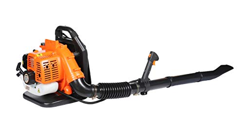 eSkde BPL430-S9 Backpack Leaf Blower 43cc Petrol 2 Stroke Professional Orange with Turbo Nozzle