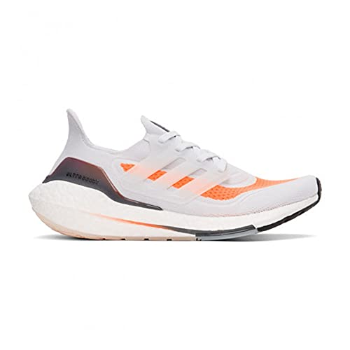 adidas Ultraboost 21, Zapatillas para Correr Hombre, Dash Grey/Dash Grey/Screaming Orange, 42 2/3 EU