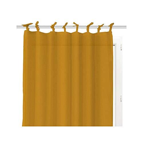 Soleil d'ocre Voilages, Coton, Jaune, 140 x 240 cm