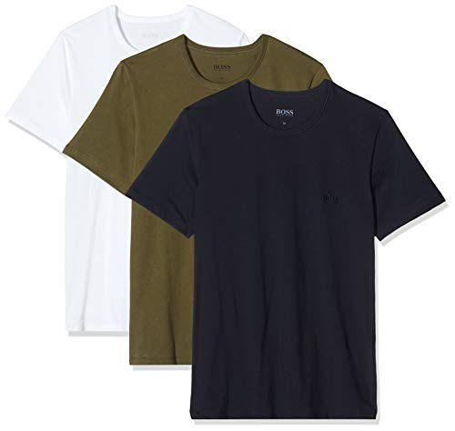 BOSS Herren RN 3P CO T-shirt, 3er Pack, Mehrfarbig 399, Medium