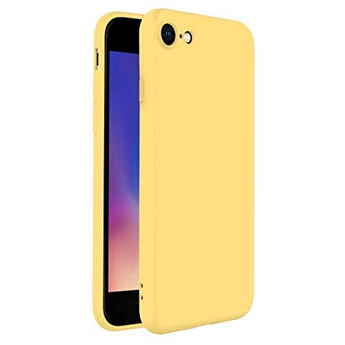 TBOC Funda para Apple iPhone 6 Plus [5.8']- Carcasa Rígida [Amarilla] Silicona Líquida Premium [Tacto Suave] Forro Interior Microfibra [Protege la Cámara] Antideslizante Resistente Suciedad Arañazos