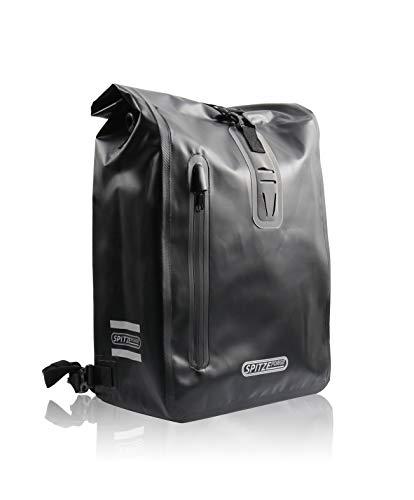 [Hakens Upgrade] Fahrradtasche für Gepäckträger Wasserdichte Fahrrad Gepäckträgertasche, Rucksack, Umhängetasche 3-in-Einem Hinterradtasche mit 3 Reflektoren für Einkaufen, Arbeit und Fahrradtour