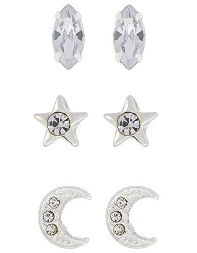 Accessorize Crystal Celestial Stud Earring Set