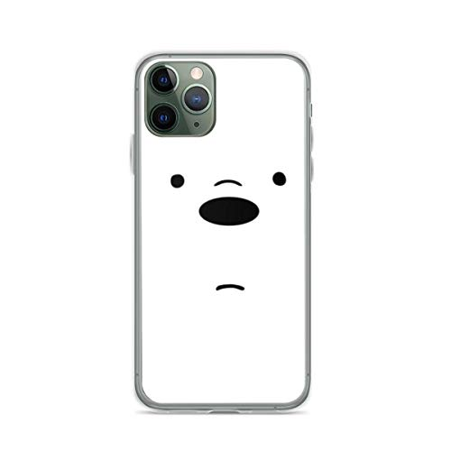 Phone Case We Bare Bears - Ice Bear Face Compatible with iPhone 6 6s 7 8 X XS XR 11 Pro Max SE 2020 Samsung Galaxy Tested Absorption Accessories