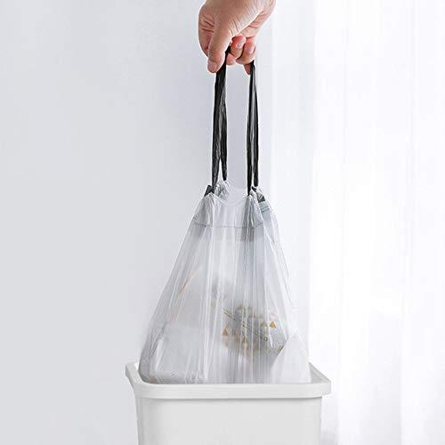 Vuilniszak, vuilniszakken met trekkoord, maat 45 * 50 cm, gemakkelijk op te tillen, gezondheid en veiligheid, geen geur, kan met vertrouwen worden gebruikt, voor vuilnisbakken