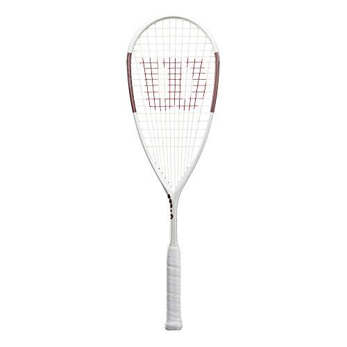 Wilson Squash-Schläger, Tempest Lite, Unisex, Kopflastige Balance, weiß/rosa, WR006410H0