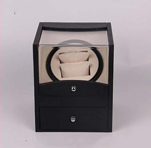 WBJLG Enrollador de Reloj automático Caja de Reloj automática de PU marrón Negro Caja de Reloj eléctrica Caja de Motor Caja de Reloj de osciloscopio eléctrico