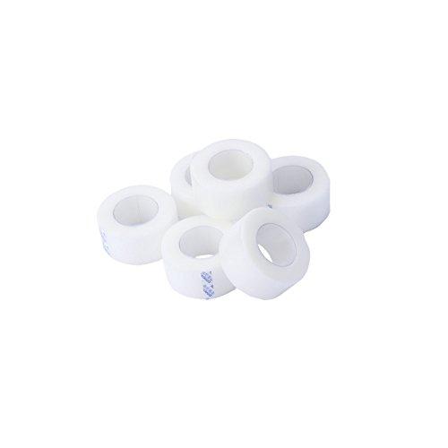 Healifty 6 rollos de cinta médica sensible de la piel de la cinta quirúrgica transparente microporosa de primeros auxilios