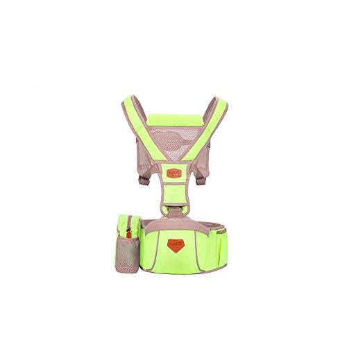 YCHSG Kindergurt Multifunktions Kinder Hocker super atmungsaktiv Baumwolltuch Mutterschaft Produkte ergonomisches Design Kindergurt,Green