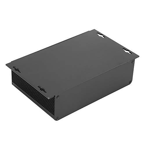 Caja de aluminio, cómoda caja de aluminio negra DIY resistente al desgaste, para productos electrónicos Diseño tipo dividido