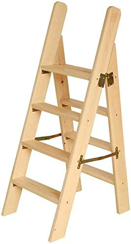 LYRR Wooden Step Ladders Cheap sale Our shop OFFers the best service Folding Ladder Wood Stool Multi-F Solid