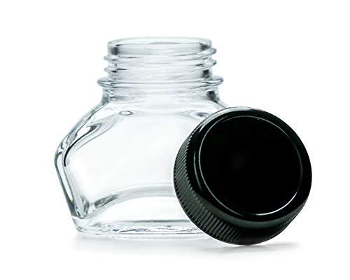 1x Tintero, tintero, vaso de joyería con tapón de rosca negro, volumen...