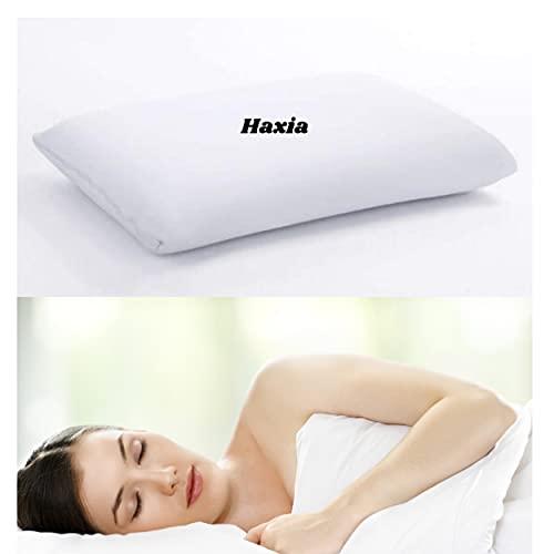 Haxia - Almohada ortopédica ortopédica de 60 x 50 cm, espuma desgarrada con memoria de forma para cervicales dolorosas, certificado Oeko Tex, almohada antironquidos, ortopédica