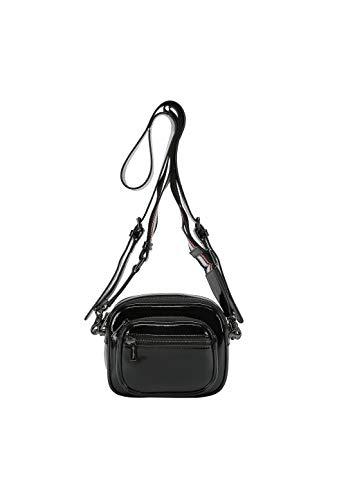 ekonika Damen Tasche hergestellt aus Lackleder schwarz, One Size