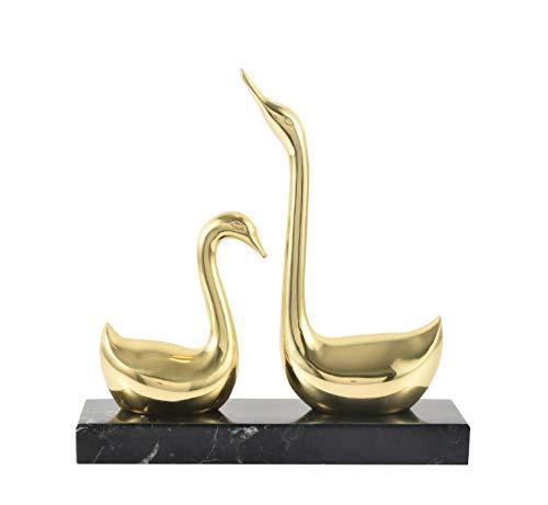 FENGWXINW Estatuas Figuritas Decoración Amantes Cisne Decoración Cobre Boda Armario De TV Americano Armario De Vino Entrada Decoraciones para El Hogar