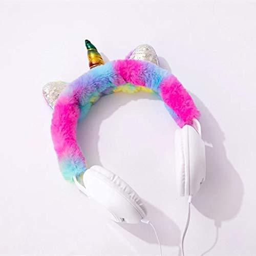 Smarteez Unicorn Headphones for Girls - Wired Headphones for Kids on Ear, Toddler Headphones for 3.5mm Jack