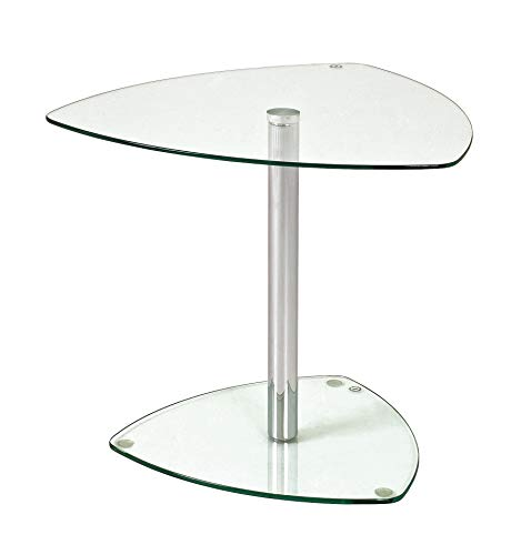 Haku Möbel 86215 mesa auxiliar 50 x 50 x 45 cm, cromo