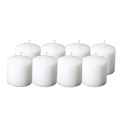 Candlenscent 10 Hour White Votive Candles Unscented (Pack of 8)