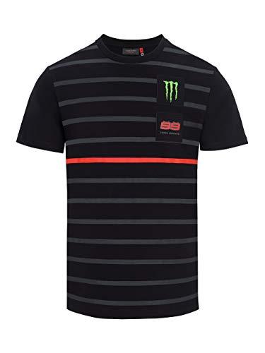 Jorge Lorenzo 99 Moto GP Monster Energy Rayas Negro Camiseta Oficial 2018