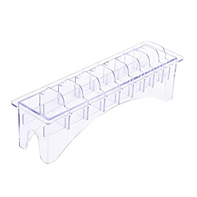 Anself Rectangular Plastic Blade Organizer for 10 Blades Storage Case Rack Clipper Comb Holder from Anself