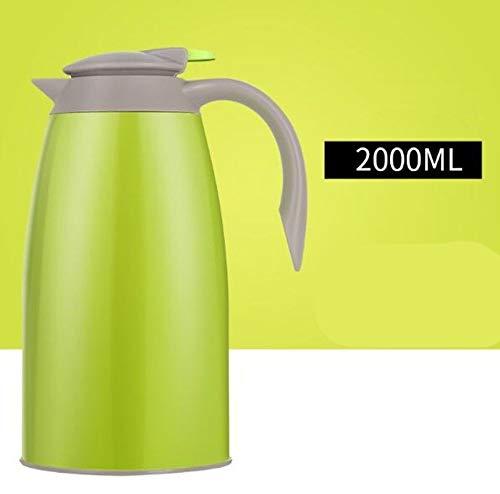Shui Thermos thermoskan, 2000 ml, grote koffiekan, uitgangen buiten, draagbaar, 304 theepot van roestvrij staal