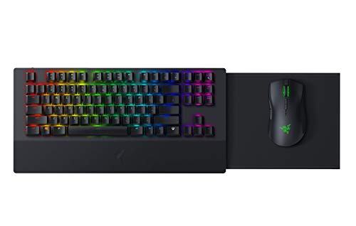 Razer Turret Wireless Mechanical Gaming Keyboard & Mouse Combo for PC, Xbox One, Xbox Series X & S: Chroma RGB/Dynamic Lighting - Retractable Magnetic Mouse Mat - 40hr Battery
