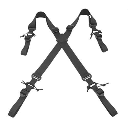 LIOOBO Hochleistungs-Hosenträger, verstellbar, elastisch, x-förmig, Rückenstütze für Outdoor-Sportarten (schwarz)