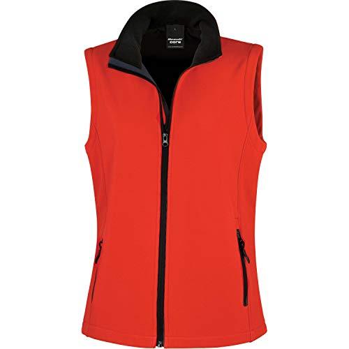 Résultat pour Femme R232F Printable Softshell Gilet sans Manches, Femme, R232F, Rouge/Noir, 2X-Large/Size 18