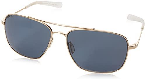 Costa Del Mar Men's Canaveral Sunglasses, Shiny Gold/Gray-580P, 59 mm -  Costa del Mar Sunglasses, CAN126OGP