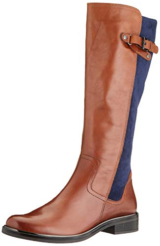 CAPRICE Damen 9-9-25504-25 Kniehohe Stiefel, Cognac/Ocean, 38.5 EU