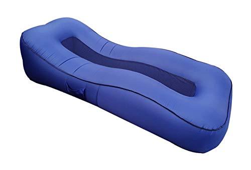 HIDENFAFR Aufblasbare Liege Upgrade Atmungsaktiv Tragbar Luftmatratze Liege Outdoor Camping See Strand Schwimmbad,Blue