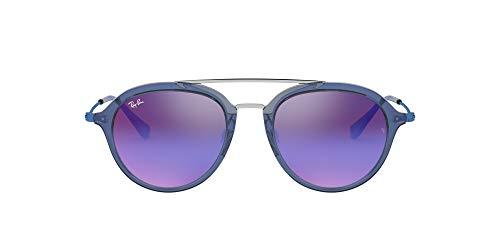Ray-Ban JUNIOR 0Rj9065S Gafas de sol, Transparente Blue, 48 Unisex-niños