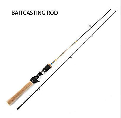 Goods-Store-uk Fishing Rods 1.68m /1.8m Soft-UL Power 2 sec Spinnrute 2kg Test 3 6kg 2 8g Carbon-Casting Angelrute für Köderfischen, Weiß, 1.68cm