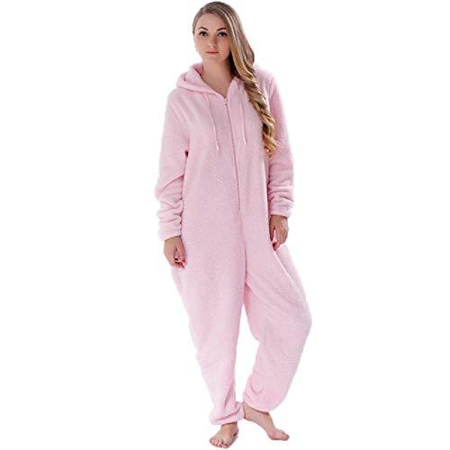 Pijamas cálidos de Invierno para Mujer, Conjuntos de Pijamas de Franela para Mujer de Talla Grande