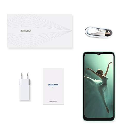 Blackview A70 (E) Smartphone ohne Vertrag Android 11, 6.517 Zoll HD mit 5.380mAh Batterie, 3GB RAM+32GB Speicher Octa-core, 13MP+5MP Kamera, Fingerabdruck Sensor, 4G Handy Dual SIM Grün - 7
