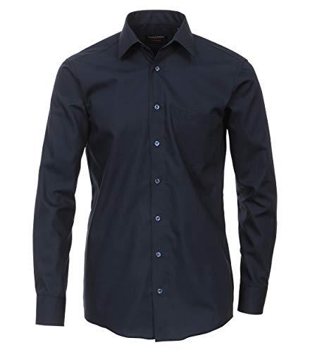 CASAMODA Herren Businesshemd Uni Comfort Fit Dunkelblau 40