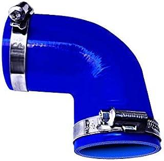 TOYOKING ホースバンド付き ハイテク シリコンホース エルボ 90度 同径 内径Φ19mm 青色 ロゴマーク無し インタークーラー ターボ インテーク ラジェーター ライン パイピング 接続ホース 汎用品