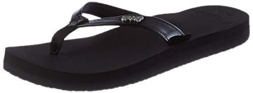 REEF Women's Flip Flop Sandals, Black Patent Bpa, 4 UK