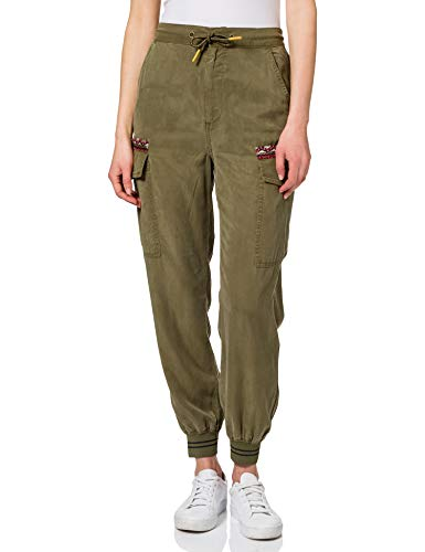 Desigual Pant_Tribeca Pantalones Informales, Verde, XL para Mujer