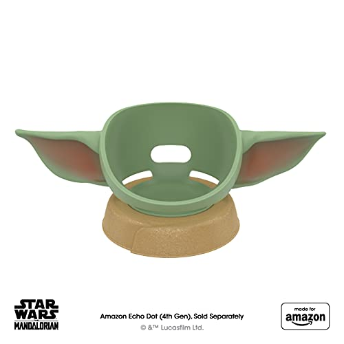 All New, Made for Amazon, featuring The Mandalorian Baby Grogu ™-inspired Stand for Amazon Echo Dot (4th Gen)