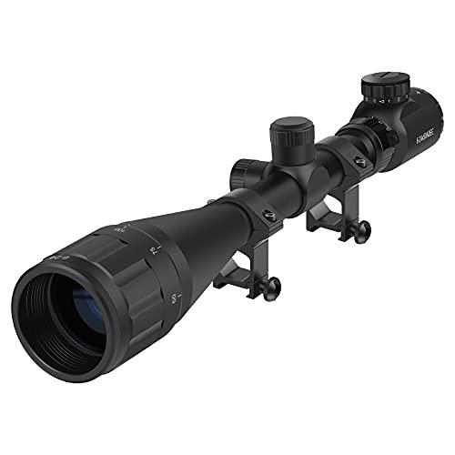 Twod Scope 6-24X50mm AOEG Optics Scope Red&Green Illuminated Rangefinder Reticle Scope