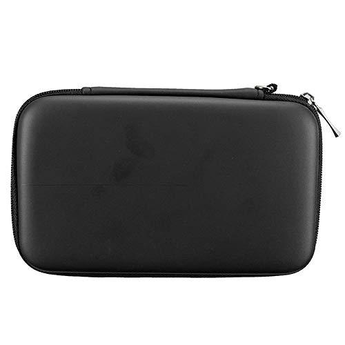 subtel® Tasche kompatibel mit Nintendo 3DS / 3DS XL/New 2DS XL/New 3DS XL Kunststoff Schutzhülle Tasche Flip Cover Case Etui schwarz