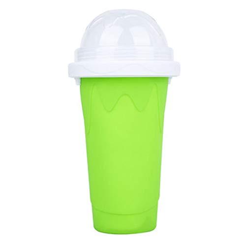Hakav, coppette da spremere per fai da te per frullati fatti in casa, tazze per gelato, a doppio strato, per succhi estivi, gelati, colore: verde