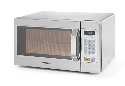 HENDI Mikrowelle, Samsung 1050W programmierbar, 4 Stufig regelbar (hoch, mittel, niedrig, Auftauen) Eingangsleitstung 1600W, 26L, 230V, 517x412x(H)294mm, Edelstahl