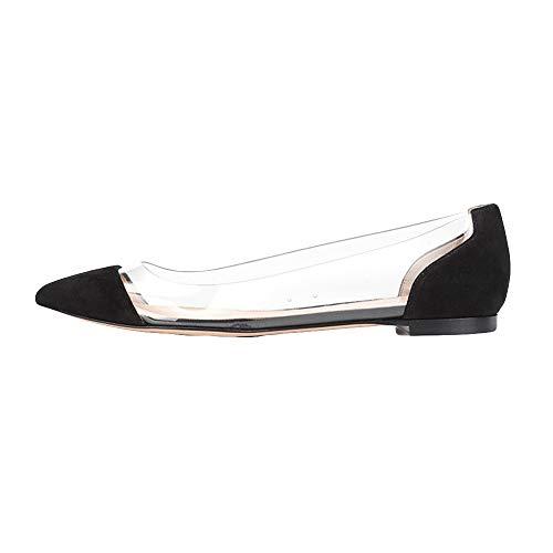 Chaussures Plates Femme,LuckyGirls Mode Nouveau Automne Hiver Ballerine Femme Sandales Femmes Plates Chaussures Plates Confortables Sexy Transparent Mocassins 35-42