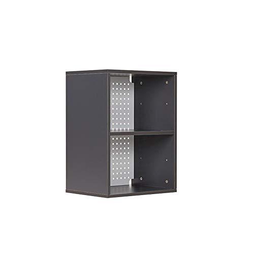 JCNFA boekenkast, overlayde combinatie, doe-het-zelf montage vloerkast verstelbare scheidingswand, verticale snede 17.12 * 12.59 * 23.03in grijs