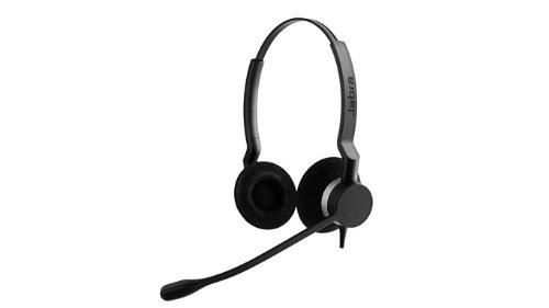 Jabra Biz 2300USB Microsoft Lync Duo–Kopfhörer mit Mikrofon (Call Center/Büro, Monophon, Kopfband, Schwarz, USB, verkabelt)