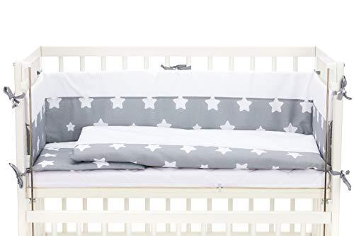 Fillikid Beistellbett - 2 in 1 Babybett - inkl. Matratze - 90 x 40 cm - Cocon Weiß (weiß inkl. Matratze und kompl. Bettwäsche)